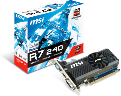 MSI AMD/ATI R7 240 2GD3 LP 2 GB DDR3 Graphics Card