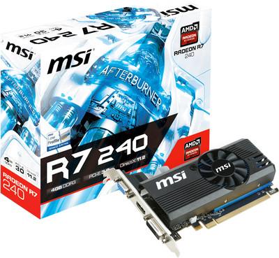 MSI AMD/ATI R7 240 4GD3 LP 4 GB DDR3 Graphics Card
