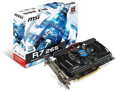 MSI AMD/ATI R7 265 2GD5 OC 2 GB GDDR5 Graphics Card
